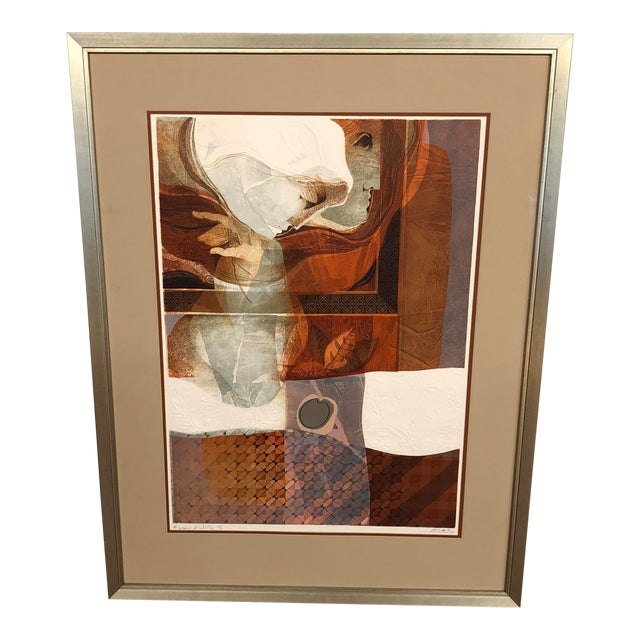 Original Sunol Alvar Embossed Artist Proof Signed Lithograph Framed With Museum Glass For Sale