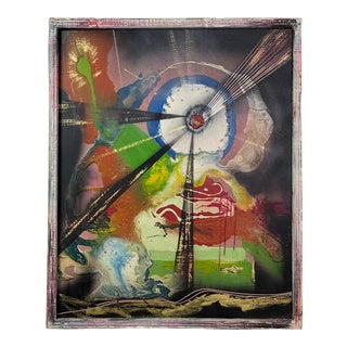 j.m. Pavelka - Abstract Mixed Media on Board, Signed (Ca. 1970, Framed) For Sale