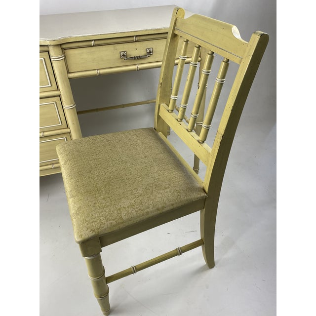 """1960s Hollywood Regency Henry Link """"Bali Hai"""" Faux Bamboo Desk W/ Chair - 2 Pieces For Sale In New York - Image 6 of 11"""