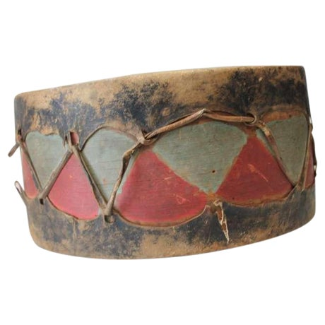 This remarkably well-conserved ceremonial drum from the Pueblo de Cochiti, New Mexico dates to the earlier part of the...