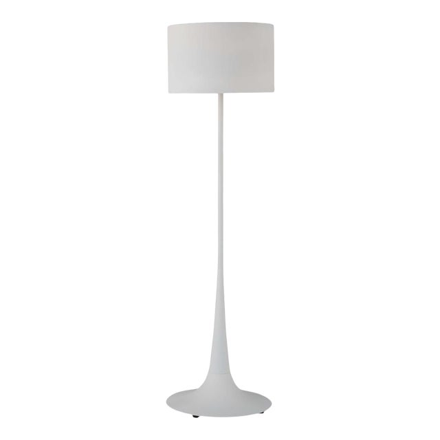 Trilogy Floor Lamp in White For Sale