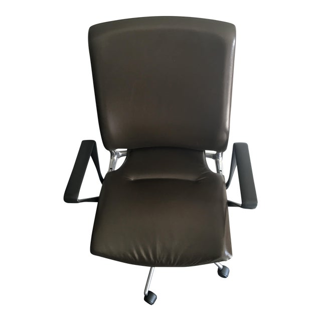 Vitra Meda Brown Leather Chair - Image 1 of 5