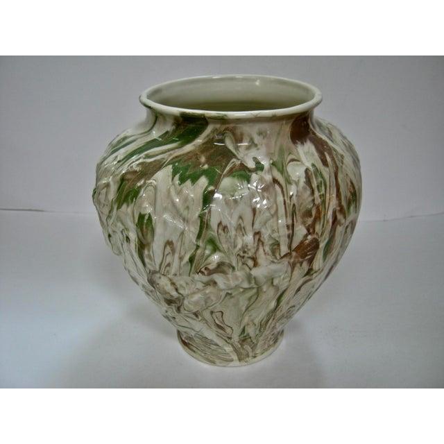 Ceramic 1979 Art Nouveau Mottled Glazed Ceramic Vase For Sale - Image 7 of 7