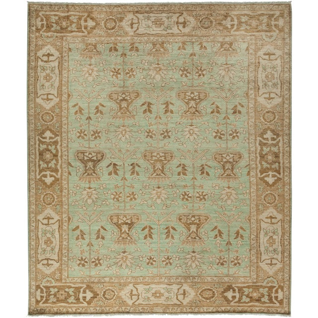 "Oushak Hand Knotted Area Rug - 8'5"" X 9'9"" For Sale"