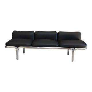 Mid-Century Three Seat Sofa in Tubular Chrome by Brian Kane for Metropolitan For Sale
