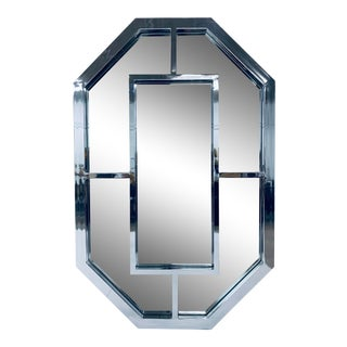 Milo Baughman Polished Chrome Wall Mirror - Two Available For Sale