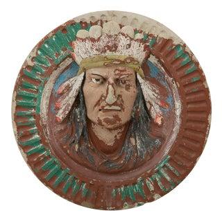 Large Terra Cotta Native American Architectural Medallion Circa 1935