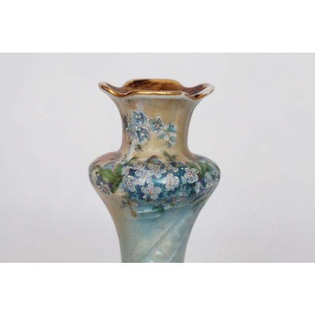 Victorian Porcelain Forget-Me-Not Candle Holder - Image 7 of 11
