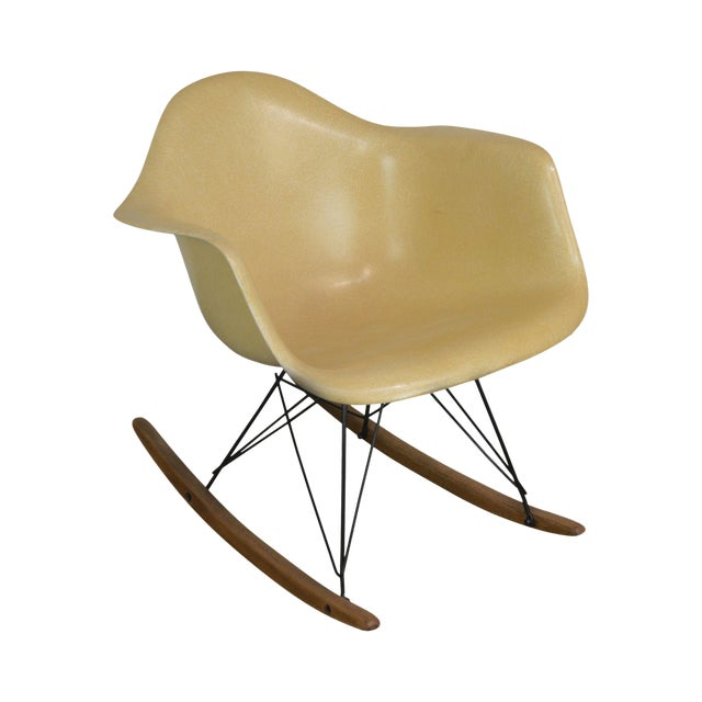 Herman Miller Charles and Ray Eames Fiberglass Shell Rocker For Sale