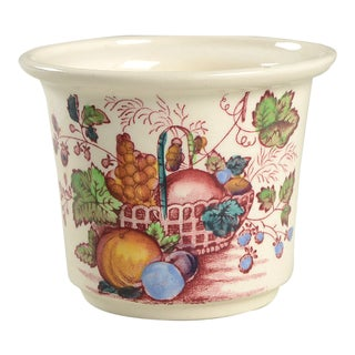 Mason's Fruit Basket Red Multicolor Drip Jar & Lid For Sale