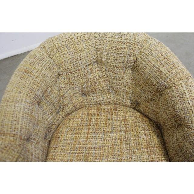 Beige Mid-Century Modern Milo Baughman Thayer Coggin Swivel Rocker Lounge Chair For Sale - Image 8 of 13