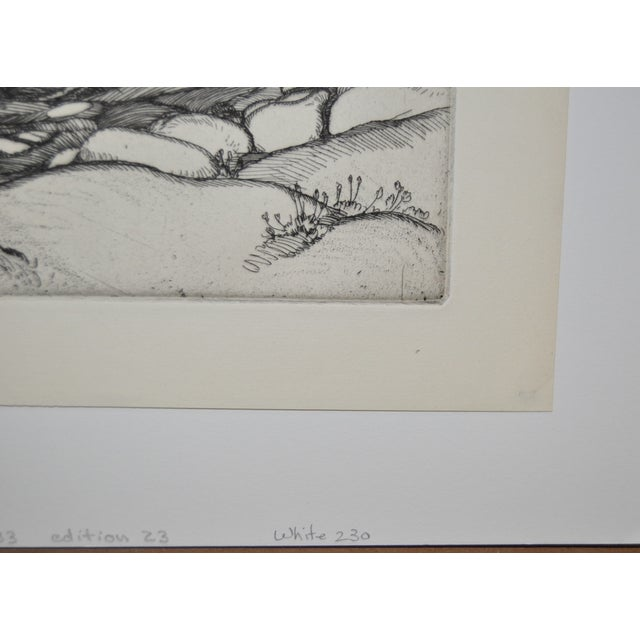 "1930s ""Ice Worn Granite"" Vintage Etching by Roi Partridge For Sale - Image 5 of 6"