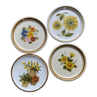 Vintage Mikasa Mismatched Floral Salad Plates - Set of 4 For Sale