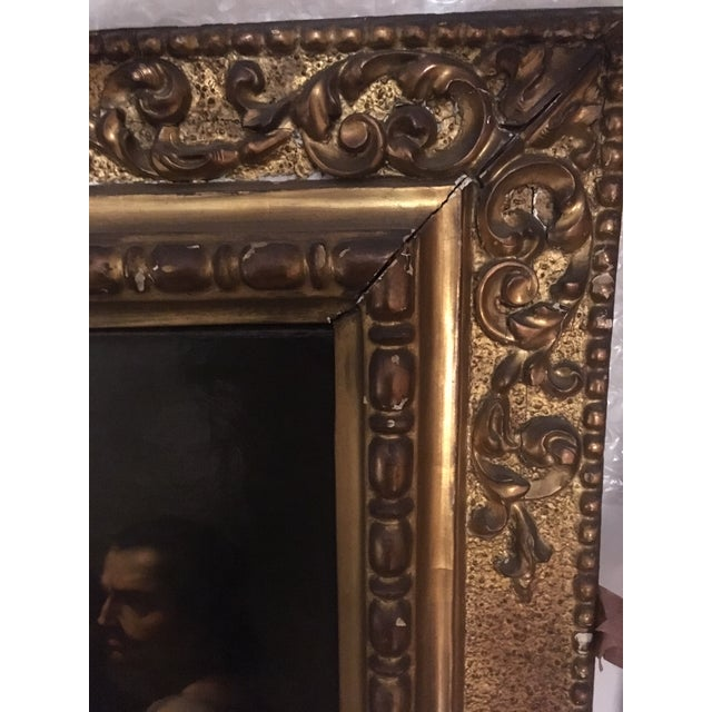 Blue 1859 Le Festin De Balthazar Oil Painting For Sale - Image 8 of 10