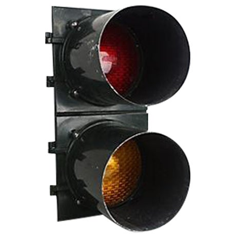 Authentic 2-Light Stoplight - Image 1 of 5