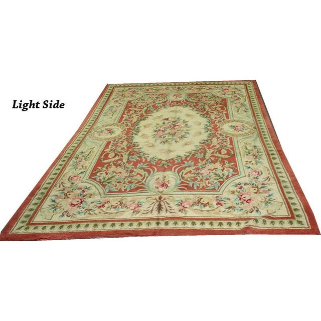 "Vintage Decorative Hooked Rug - 8'10"" x 12'2"" - Image 2 of 6"