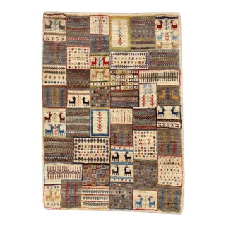 "Persian Gabbeh Rug - 2′9″ × 3′11"" For Sale"