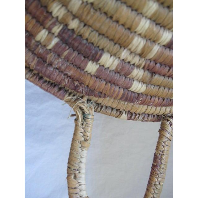 Lidded African Woven Basket - Image 8 of 9