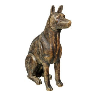 Carved Wood Figure of a Dog For Sale
