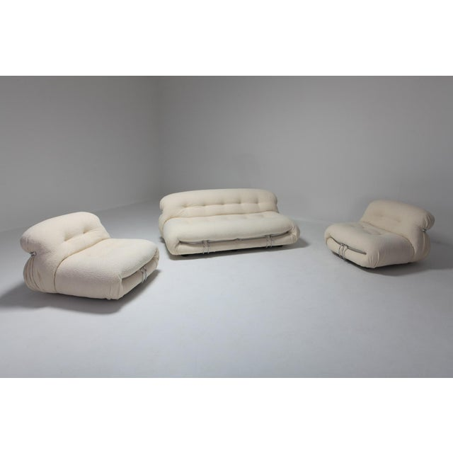Silver Soriana Two-Seat Sofa by Afra E Tobia Scarpa for Cassina For Sale - Image 8 of 11