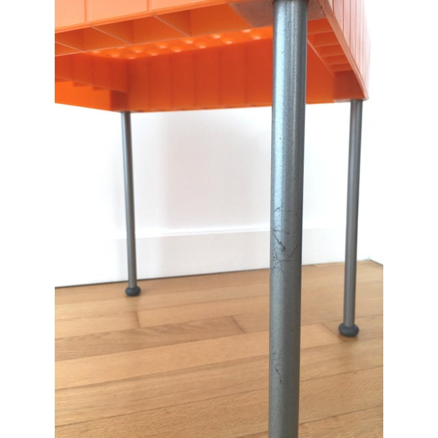 Orange Late 20th Century Vintage Enzo Mari Box Chairs Produced by Aleph Atlantide (Driade) - a Pair For Sale - Image 8 of 13