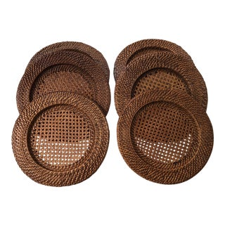 Rattan Chargers - Set of 6