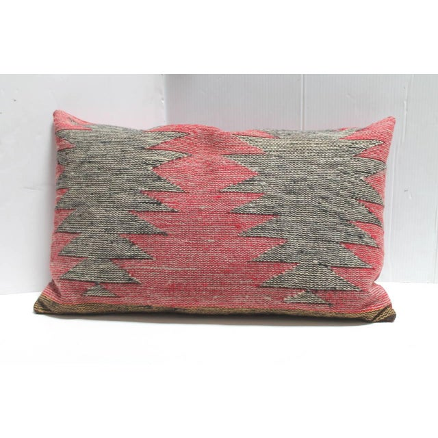 Navajo Group of Three Navajo Indian Weaving Bolster Pillows For Sale - Image 3 of 5