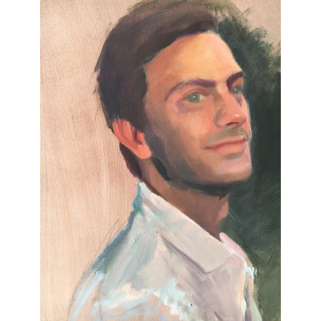 Vintage Oil Painting of a Man - Image 3 of 3