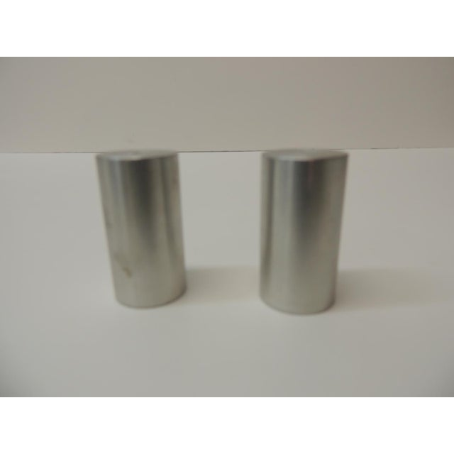 Late 20th Century Late 20th Century Tubular Chrome Round Salt and Pepper Shakers For Sale - Image 5 of 6
