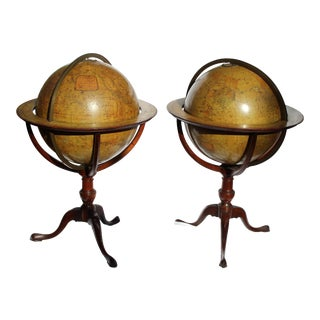 19th C. English Terrestrial Globe by Edward Stanford - a Pair For Sale
