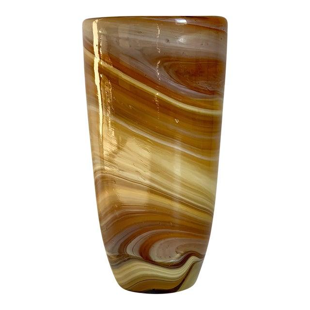 Italian Glass Vase For Sale