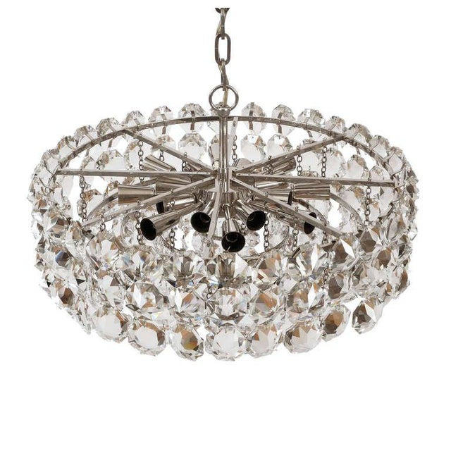Pair of Large Bakalowits and Sohne Vienna Drum Chandeliers For Sale - Image 6 of 8