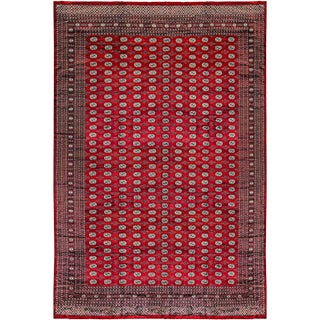 Oversize Hand Woven Bokhara Rug - 12'4 X 18'5 For Sale