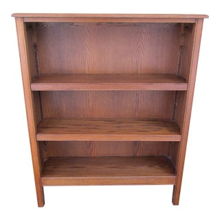 1960s Mid-Century Modern Bookcase With Two Adjustable Shelves For Sale