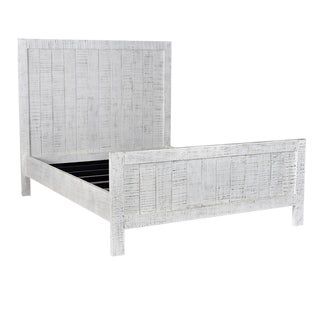 Salvaged White Panel Queen Bed Frame For Sale