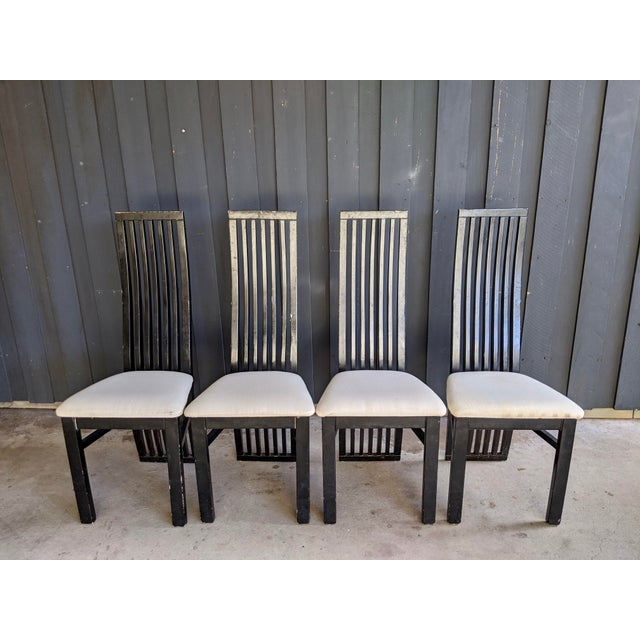 Black 1980s Contemporary Dining Chairs - Set of 8 For Sale - Image 8 of 10