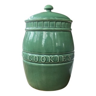 Vintage 1990s Boston Warehouse Stoneware Cookie Jar