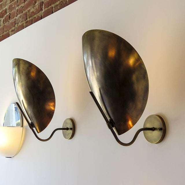Raw Brass Beetle Wall Lights For Sale - Image 10 of 11