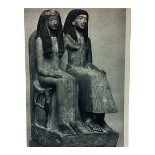 """Circa 1970 """"Naia and Mut-Nefer"""" Xixth Dynasty Great Sculpture of Ancient Egypt Print For Sale"""