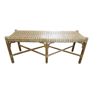 Mid Century Peter Volpur for McGuire Long Bench For Sale
