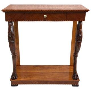 19th Century Biedermeier Console Table For Sale