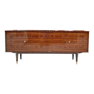 1940s French Art Deco Macassar Ebony Sideboard/Credenza/Buffet For Sale