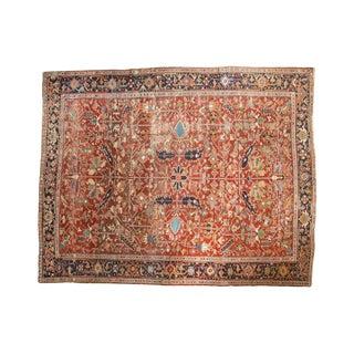 "Vintage Heriz Carpet - 8'10"" X 11'1"" For Sale"