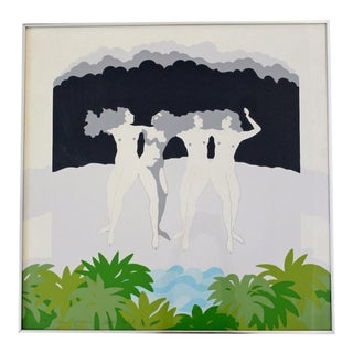 """Framed Aleksis Lahti """"Four Graces"""" Signed Numbered Litho For Sale"""