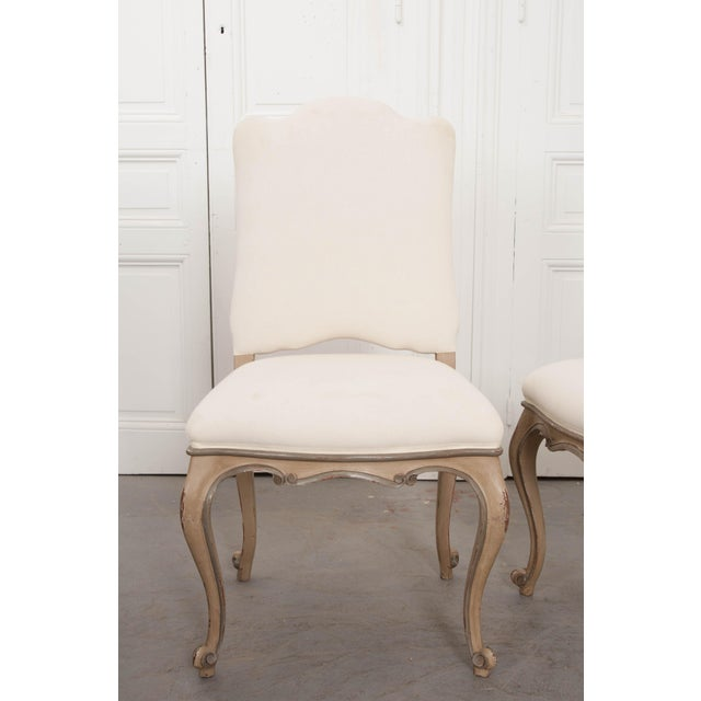French Louis XV Style Reproduction Dining / Side Chairs - Set of 4 For Sale - Image 9 of 13