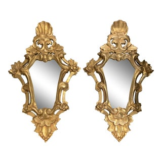 19th Italian Gilded Mirrors - a Pair For Sale