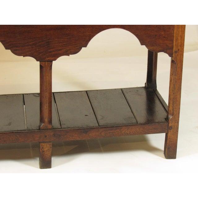 Brass 18th Century Vintage Welsh Elm Sideboard For Sale - Image 7 of 12