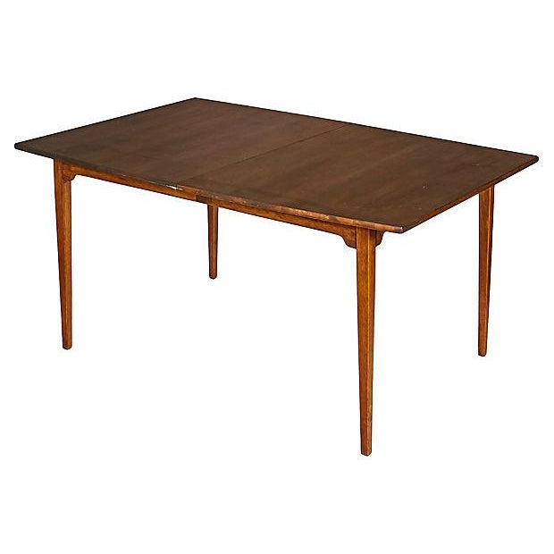 1960s Walnut Expandable Dining Table - Image 4 of 7