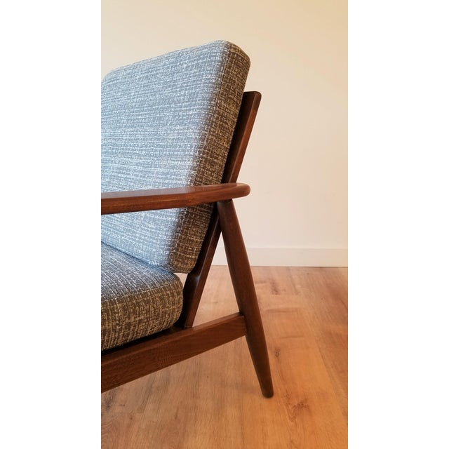 1960s Newly Upholstered Viko Baumritter Walnut Armchair For Sale - Image 5 of 12