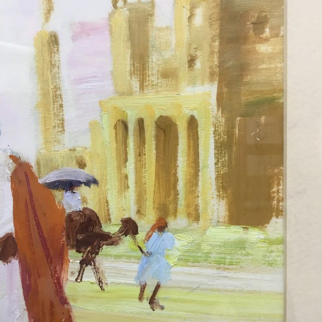 Early 20th Century Vintage Impressionism Oil Painting on Paper by F. Grimes For Sale - Image 4 of 10